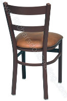 Double Ladder Cafe Chair - Upholstered Seat