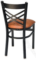 Double Cross Cafe Chair - Upholstered Seat