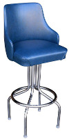 Diner Wingback Bucket Bar Stool