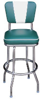V-Back Single Ring Bar Stool