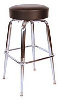 Chrome Bar Stool Black