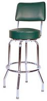 Green Bar Stool with Back
