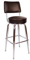 Bar Stool w/ Back Black