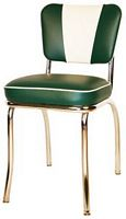 V Back Diner Chair Green